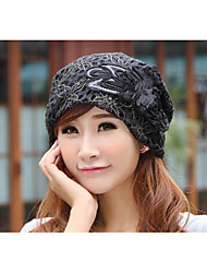 cheap -Women's Cotton Beanie/Slouchy,Casual All Seasons Black Brown