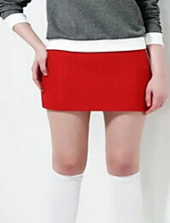 Women's Casual/Daily Mini Skirts,Cute Bodycon Solid Fall Winter
