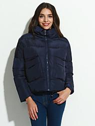 preiswerte -Gefüttert Mantel,Kurz Einfach Solide-Polyester Polypropylen Langarm Blau / Rosa / Schwarz / Grau / Silber Ständer