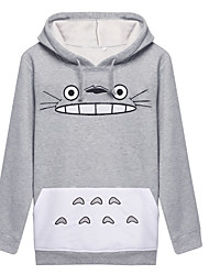 cheap -Inspired by My Neighbor Totoro Cat Anime Cosplay Costumes Cosplay Hoodies Print Long Sleeves Coat For Men's Women's