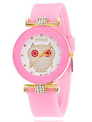 Mulheres Relógio de Moda Relógio de Pulso Relógio Casual Simulado Diamante Relógio Quartzo / imitação de diamante Silicone Banda Casual