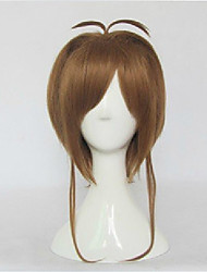 cheap -High Quality  Brown Card Captor Sakura Cospaly Wig Straight  Synthetic Hair Costume Party Wig