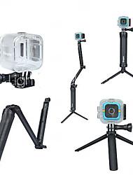 Недорогие -3-Way Регулируемый поворотный рычаг Водонепроницаемые кейсы Кейс Монопод Трипод Для Экшн камера Polaroid Куб Универсальный Охота и