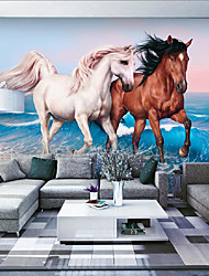 JAMMORY 3D Wallpaper For Home Contemporary Wall Covering Canvas Material Horse LoversXL XXL XXXL