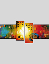 cheap -Canvas Oil Painting Set of 4 Modern Abstract Stretched Frame Ready To Hang SIZE50*70CM*2PCS 25*70CM*2PCS.