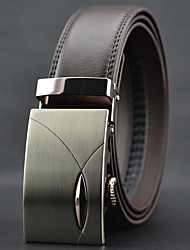 cheap -Men's Leather Alloy Waist Belt