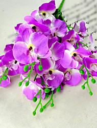 2 Bundles/Lot Modern Silk Orchids Moth Orchid Artificial Flower For Decoration