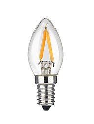 cheap -KWB 1pc 2W 1600lm E12 LED Filament Bulbs 2 LED Beads COB Warm White 110-130V