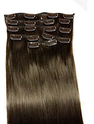 22Inch #2  Remy Human Hair Extensions 8Pcs/set(90g)Hair Extension Type Human Hair Extensions