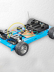 cheap -Crab Kingdom® Diy Car Model Assembled Technology Making Toys Four-way Remote Control Car 12 Blue Manual Material Package