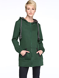 cheap -Women's Plus Size Daily Hoodie Jacket Solid Fleece Lining Micro-elastic Long Sleeve Fall