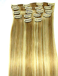 8Pcs/set  24 Inch #18/613 Remy Human Hair Extensions Hair Extension Type Human Hair Extensions