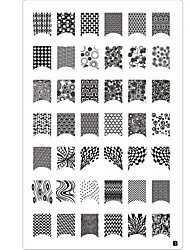 abordables -Nail Art 42 Pattern Stamp Stamping Plate Imagen del lazo