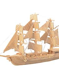 Недорогие -Деревянные пазлы Боец Корабль профессиональный уровень деревянный 1pcs Детские Мальчики Подарок