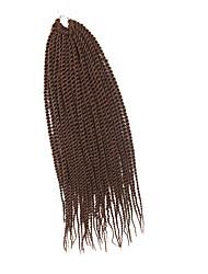 Senegal Twist Braids Medium Auburn Hair Braids 20Inch Kanekalon 98g 35 Strands Synthetic Hair Extensions