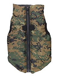 cheap -Cat Dog Coat Vest Dog Clothes Casual/Daily Keep Warm Camouflage Beige Rose Red Blue Camouflage Color Costume For Pets