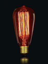st64 13 ak 40w ampoules à incandescence ampoule antique en soie edison