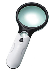 Magnifiers/Magnifier Glasses Handheld 3 Magnification (Large Lens), 45 Magnification (Small Lens) 75mm Plastic