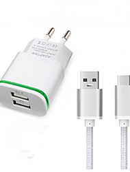 cheap -Home Charger Phone USB Charger EU Plug Fast Charge Charger Kit 2 USB Ports 3.1A AC 100V-240V For Cellphone