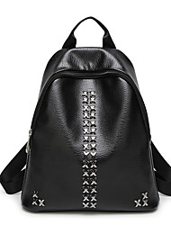 Women Bags All Seasons PU Backpack Rivet for Event/Party Shopping Casual Sports Formal Outdoor Office & Career Black