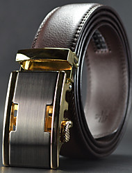 Men Leather Automatic Buckle Waist Belt Work / Casual Alloy / Leather Brown All Seasons