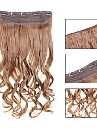 Недорогие -На клипсе Расширения человеческих волос Волнистый 1шт / уп 24 дюйм