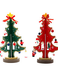 cheap -Holiday Decorations Christmas Decorations Christmas Party Supplies Christmas Trees Toys Triangle Furnishing Articles Wood 1 Pieces