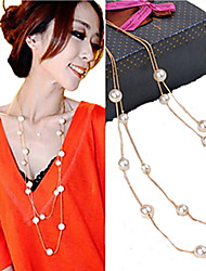 cheap -Women's Jewelry Elegant Bridal Strands Necklaces Pearl Imitation Pearl Strands Necklaces , Wedding Party Daily Casual