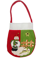 cheap -Christmas Decorations Gift Bags Toys Santa Suits Snowman Textile 2 Pieces Christmas Gift