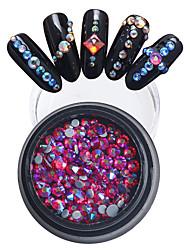 billige -1pcs Rhinsten Smuk Negle kunst Manicure Pedicure Bryllup / Neon & Bright
