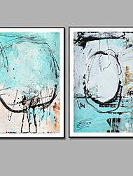 economico -decorazione della parete astratta dipinta a mano pittura a olio dipinta a mano, moderna pittura a olio su tela a due pannelli