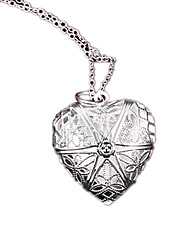 cheap -Women's Fashion Lockets Necklaces Silver Plated Lockets Necklaces , Party Daily