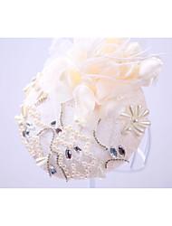 abordables -gasa imitación perla rhinestone sombreros casco estilo elegante