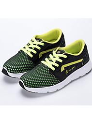Da donna-scarpe da ginnastica-Tempo libero Sportivo CasualPiatto-Tulle PU (Poliuretano)-Nero / verde