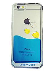 billiga -fodral Till iPhone 5 / Apple iPhone 8 / iPhone 8 Plus / iPhone 5-fodral Flytande vätska / Genomskinlig Skal Tecknat Hårt PC för iPhone 8 Plus / iPhone 8 / iPhone SE / 5s
