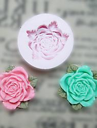 Недорогие -Цветок с листьями силиконовые формы Фондант Пресс-формы Сахар Craft Инструменты Смола цветы Плесень пресс-формы для тортов