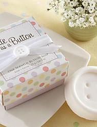 Недорогие -праздничные подарки мини кнопку форма мыла (случайный цвет)