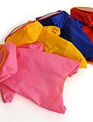 cheap -Cat Dog Rain Coat Dog Clothes Solid Colored Random Color Terylene Costume For Pets Men's Women's Waterproof