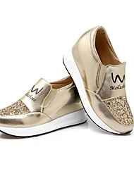 Women's Sneakers Spring Summer Fall Platform Leatherette Outdoor Casual Platform Sequin Blue Pink Silver Rose Gold Walking