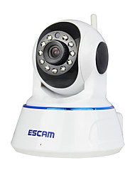escam® qf002 720p 1.0 mp IP camera PT interna con giorno di rilevazione di movimento a distanza remoto ir-cut audio 32g tf card