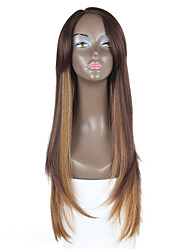 New Style Brown Hair Lace Front Straight Hair  Synthetic Lace Wig