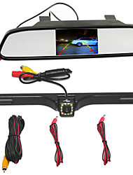 cheap -Rearview Mirror 4.3 TFT LCD Car Parking Rearview Mirror Monitor With 12 LED CCD HD Rear View Camera For VW Audi Ford Toyota Nissan Mazda Hyundai
