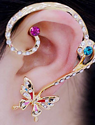 cheap -Clip Earrings Alloy Rhinestone Simulated Diamond White Rainbow Jewelry Party Daily Casual 1set