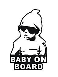 15 * 9cm / kühles Baby an Bord Autoaufkleber Motorrad-Aufkleber