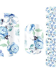 Beautiful Flower Fairy Blue Rose Nail Art Stickers