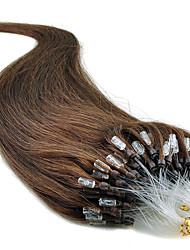 """20"""" jet noir (# 1) 100s boucle micro extensions de cheveux humains"""