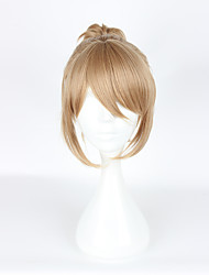 Perruques de Cosplay Cosplay Cosplay Jaune Court / Queue-de-cheval Anime Perruques de Cosplay 35 CM Fibre résistante à la chaleur Féminin
