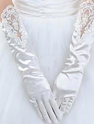 Al polso Con dita Guanti Raso elasticizzato Guanti da sposa Invernali Primavera Estate Autunno Inverno Con perle