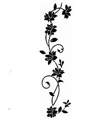 pegatinas de pared de etiquetas de la pared, flor negro pvc vid pegatinas de pared