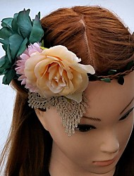Women's Lace Basketwork Fabric Headpiece-Wedding Special Occasion Tiaras Headbands Flowers 1 Piece